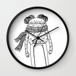 Betty in black and white Wall Clock