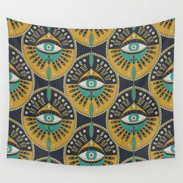 Tribal Evil Eye Pattern Wall Tapestry