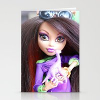 monster high Stationery Cards featuring Monster High: Howleen Wolf custom from The Blank Flank by Amy McWilliams - The Blank Flank
