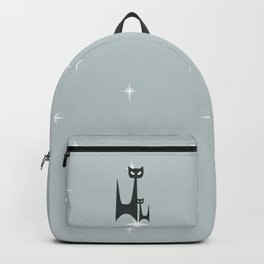 Mid Century Atomic Blue Cats Backpack