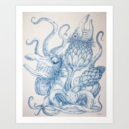 Tarandarus Flosculus (B) Art Print