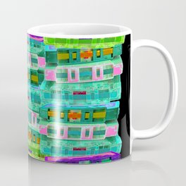 Fluoro Cassette Stacks Coffee Mug