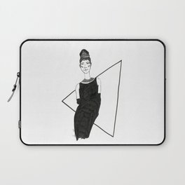 Girl in a black dress Laptop Sleeve