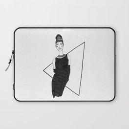 Girl in a black dress Laptop Sleeve