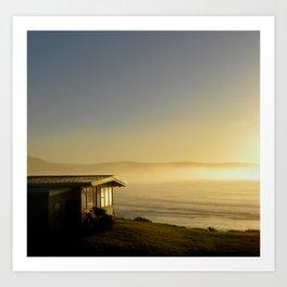 Curio Bay at sunrise Art Print