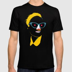 Smile in black Mens Fitted Tee X-LARGE Black
