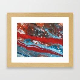 RIVER RUNS SLOW   Acrylic abstract art by Natalie Burnett Art Framed Art Print