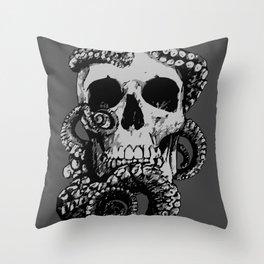 Skull & Octopus Throw Pillow