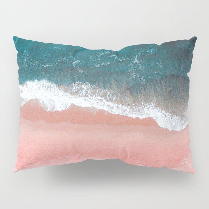 Turquoise Sea Pastel Beach III Pillow Sham