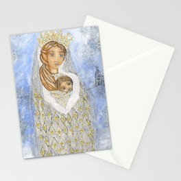Our Lady of the Snows by Flor Larios Stationery Cards
