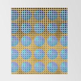 Aquarius Moons - 70s Pop Art Throw Blanket