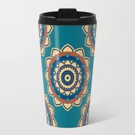 Who's the Mandala Seamless Pattern Travel Mug