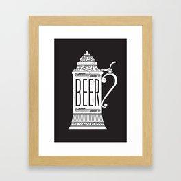 Beer Stein - Reverse Framed Art Print