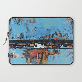 Stallion Blue Modern Painting Abstract Art Landscape Laptop Sleeve