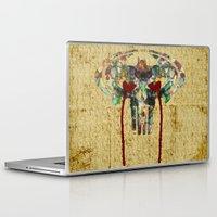 punisher Laptop & iPad Skins featuring Watercolor Punisher Bat by Joshua Epling
