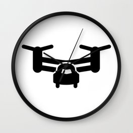 Osprey Silhouette Icon Wall Clock