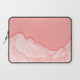Lines in the mountains - pink Laptop Sleeve
