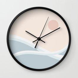 Peaceful Seascape Sunrise Wall Clock