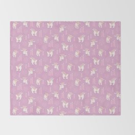 The Kids Are Alright - Pastel Pinks Throw Blanket