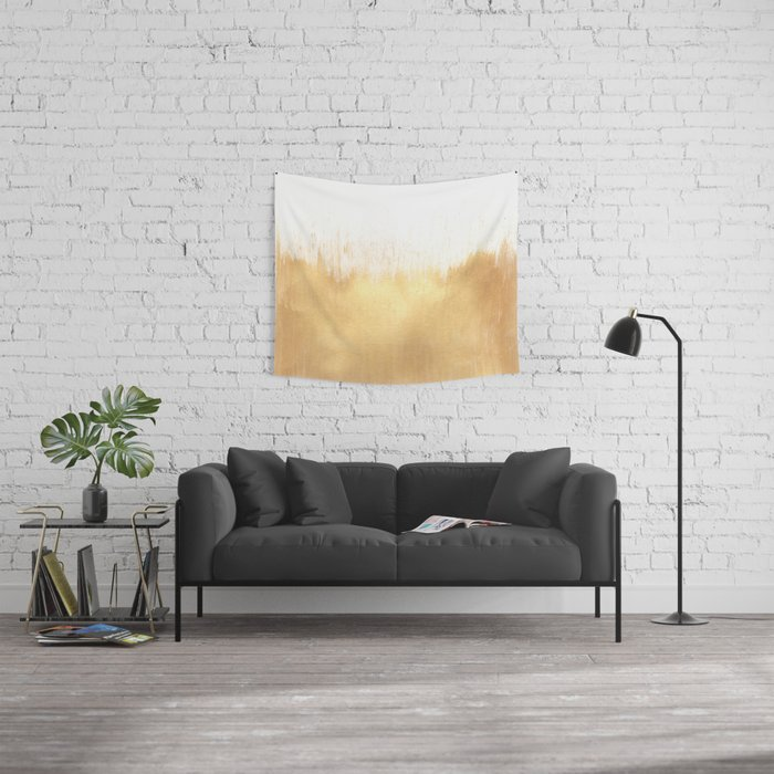 Brushed Gold Wall Tapestry