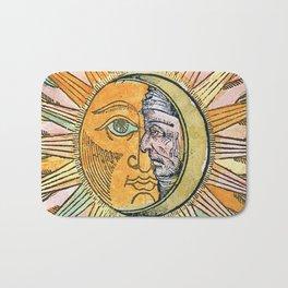 Sun and Moon Face Bath Mat