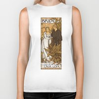 hallion Biker Tanks featuring Bride by Karen Hallion Illustrations