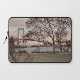 Over a Beautiful Bridge at Sunset Laptop Sleeve