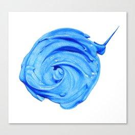 blue paint dab Canvas Print