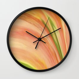 Delicate Peach Wall Clock