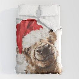 Christmas Highland Cow Comforters