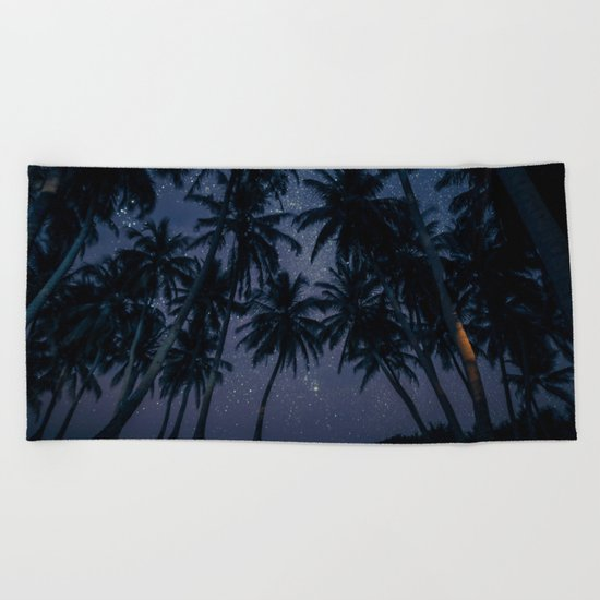 Find Me Under The Palms Beach Towel