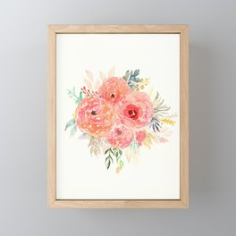 Pink Flower Bouquet Framed Mini Art Print