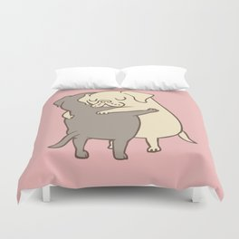 Labrador retriever Hugs Duvet Cover