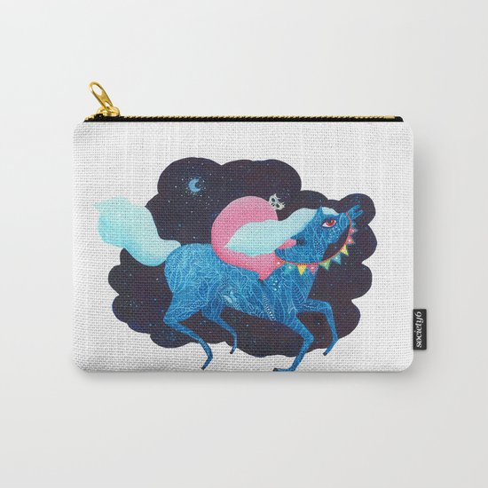 Death on a horse fairy tale illustration Carry-All Pouch