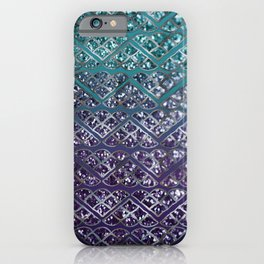 Purple Aqua MERMAID Glitter Scales Dream #2 #shiny #decor #art #society6 iPhone Case