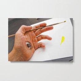 Through the Hand Metal Print