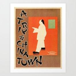 A trip to Chinatown Beggarstaffs Art Print
