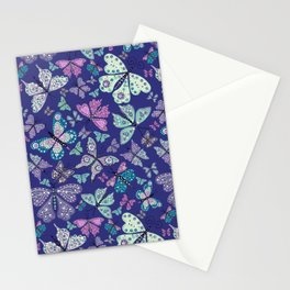 Butterfly Fantasy in Purple Stationery Cards