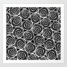 Black roses Art Print