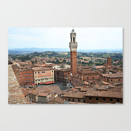 Siena, Italy from Above Canvas Print