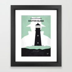 No513 My Shutter Island minimal movie poster Framed Art Print