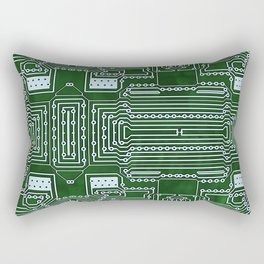 Computer Geek Circuit Board Pattern Rectangular Pillow