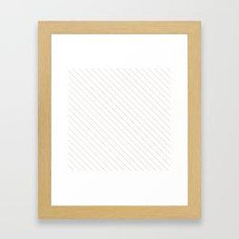 Bridal Blush Stripe Framed Art Print