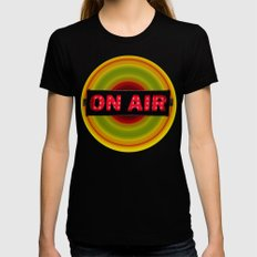 on air Womens Fitted Tee LARGE Black