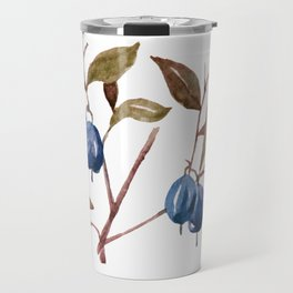 Watercolor Bog Bilberry Travel Mug