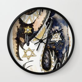 Sleepy Starbird Wall Clock