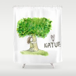 Love nature Shower Curtain