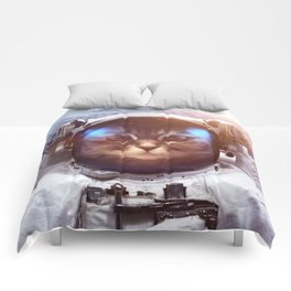Cat in space Comforters
