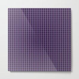 Meshed in Purple Metal Print