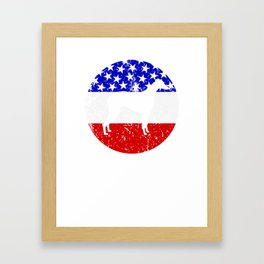 American Flag Greyhound Framed Art Print